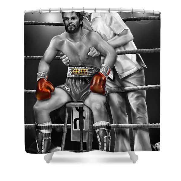 Roberto Red Gloves Of Gray  Shower Curtain