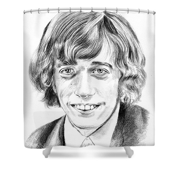 Robin Gibb Drawing Shower Curtain