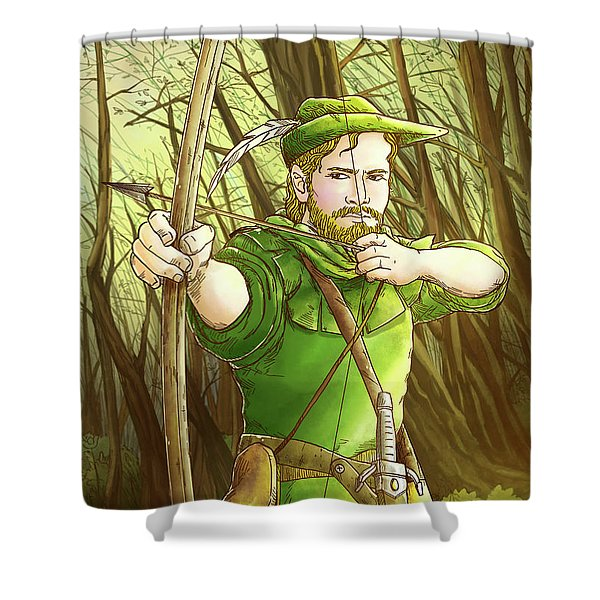 Robin  Hood In Sherwood Forest Shower Curtain