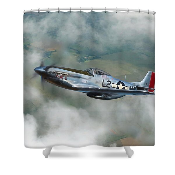 Robin Olds Scat Vi Shower Curtain