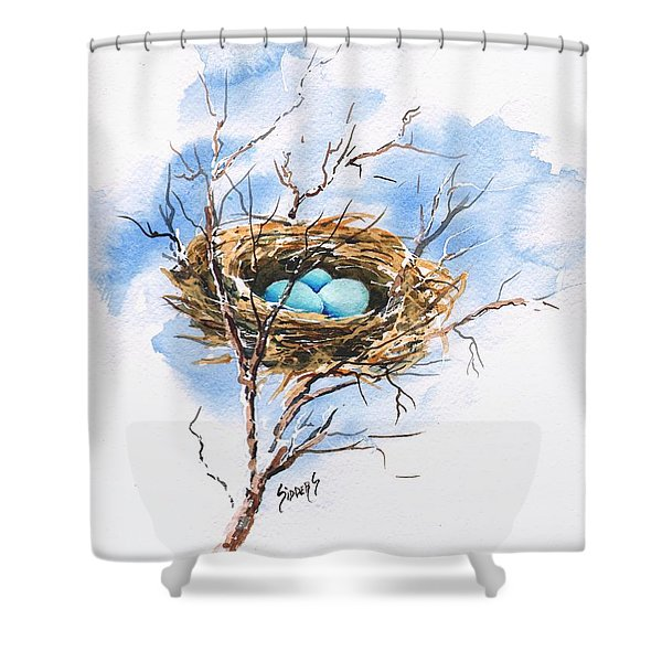 Robin's Nest Shower Curtain