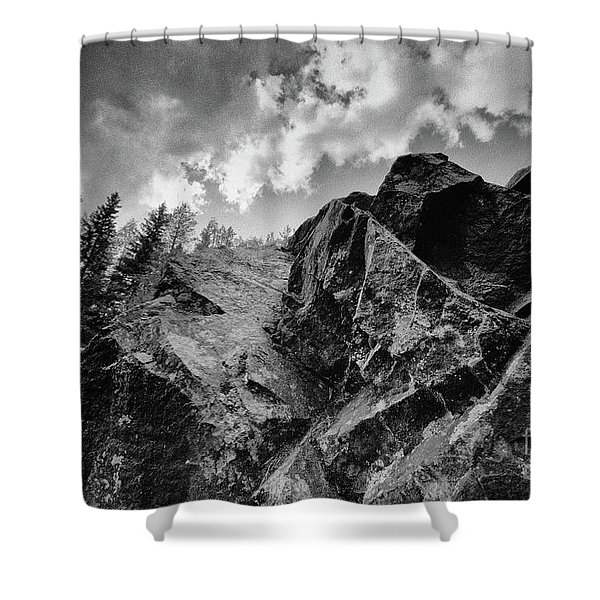 Rock #9542 Bw Version Shower Curtain