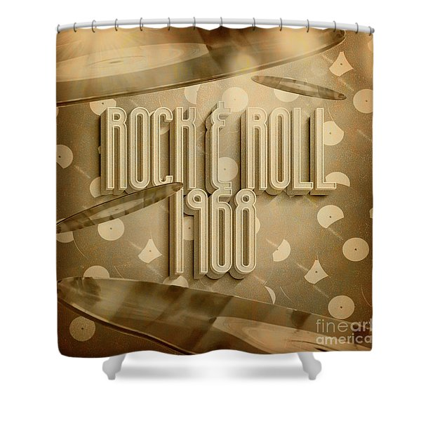 Rock And Roll 1968 Shower Curtain