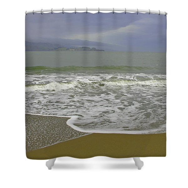 Rock And Sand Shower Curtain