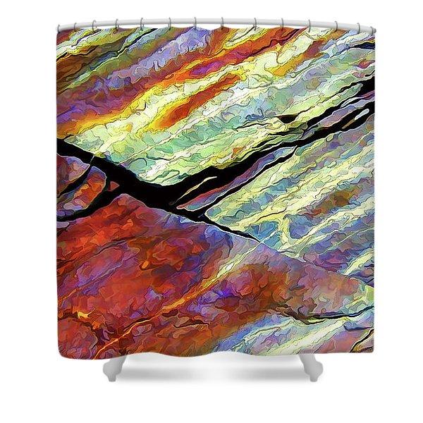 Rock Art 16 Shower Curtain