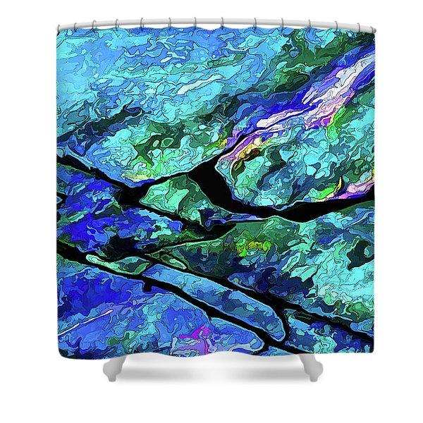 Rock Art 18 Shower Curtain