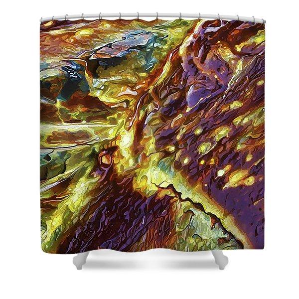 Rock Art 28 Shower Curtain