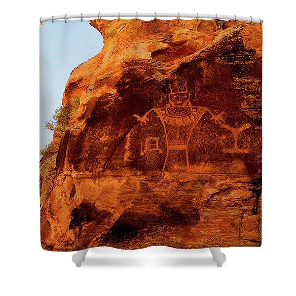 Rock Art From Utah Shower Curtain