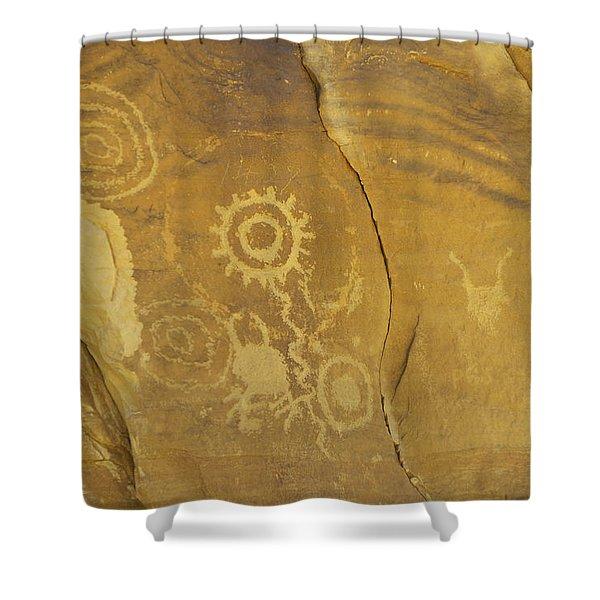 Rock Art From Utah II Shower Curtain