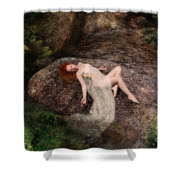 Rock Bathing Shower Curtain