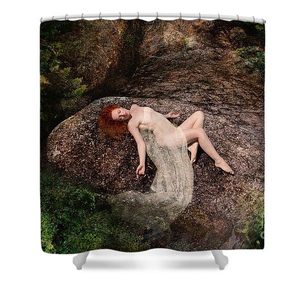 Rock Bathing Shower Curtain