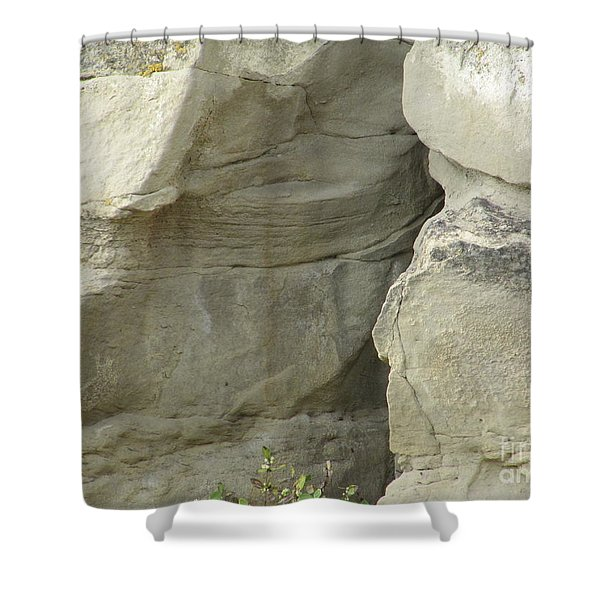Rock Cleavage Shower Curtain