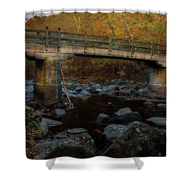 Rock Creek Park Bridge Shower Curtain