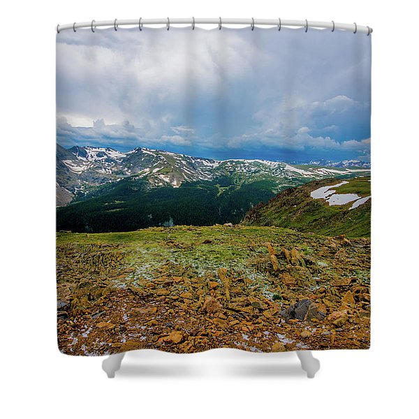 Rock Cut 2 - Trail Ridge Road Shower Curtain