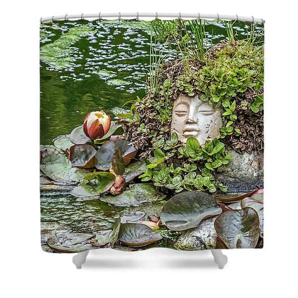 Rock Face Revisited Shower Curtain