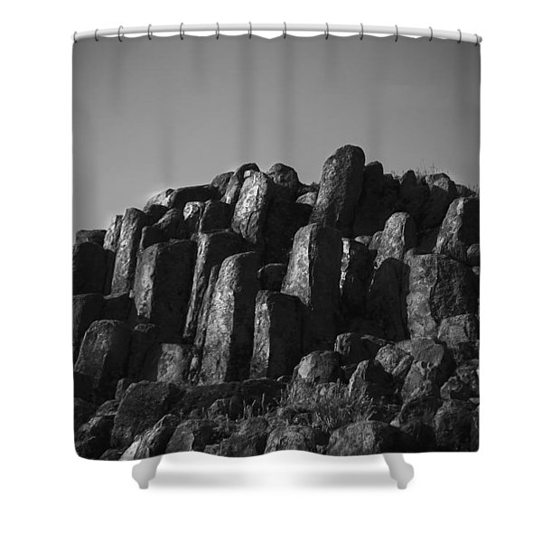 Monument To Glacier Shower Curtain