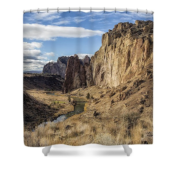 Rock From Ash Shower Curtain