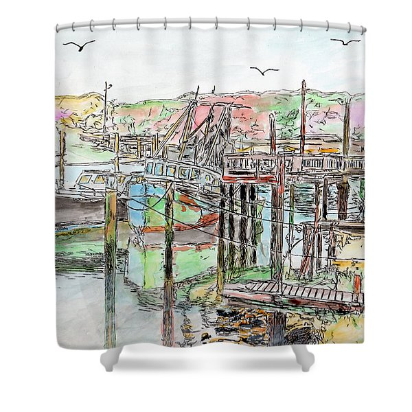 Rock Harbor, Cape Cod, Massachusetts Shower Curtain