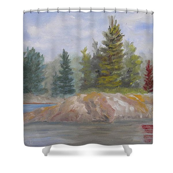 Rock Island Shower Curtain
