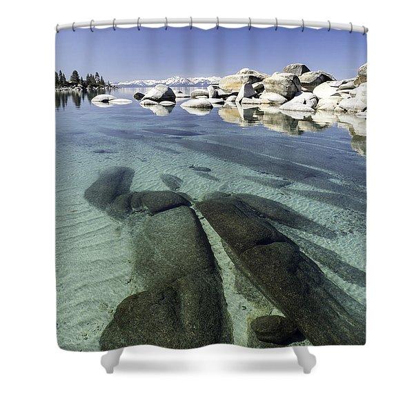 Rock Island Water Shower Curtain