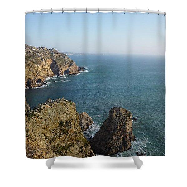 Rocks Near To Cabo Da Roca Shower Curtain