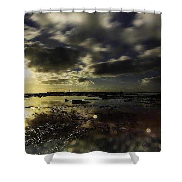Rock Pool Sunrise Shower Curtain