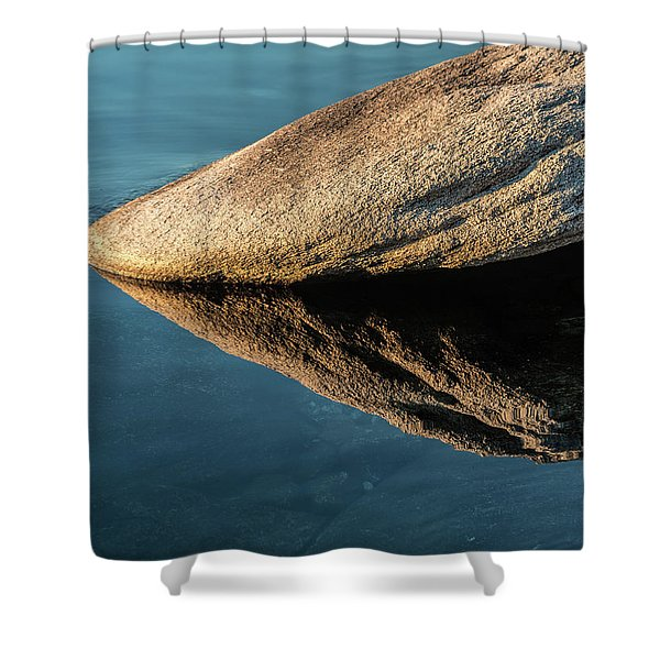 Rock Reflection Shower Curtain