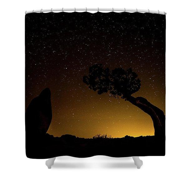 Rock, Tree, Friends Shower Curtain