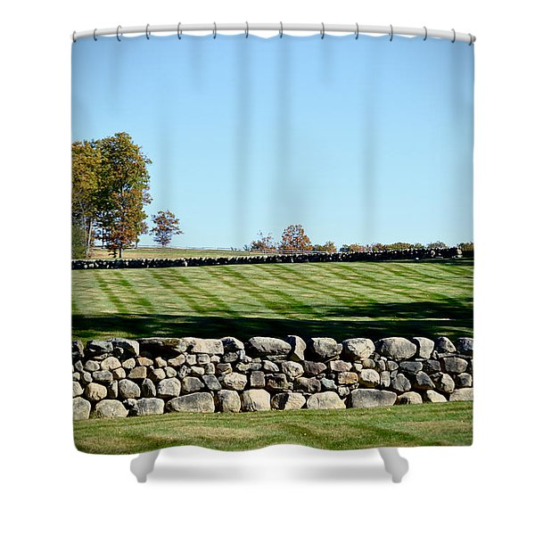 Rock Wall Lawn Shower Curtain