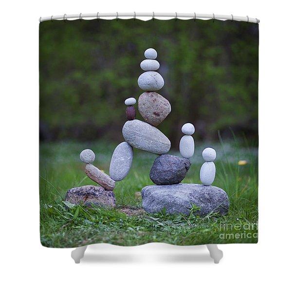 Rock Yoga Shower Curtain