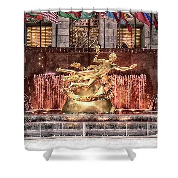 Rockefeller Center Shower Curtain