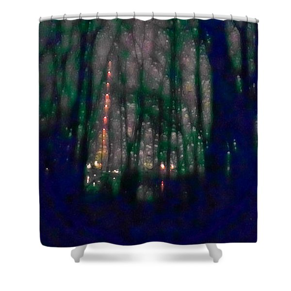 Rockets In The Night Shower Curtain