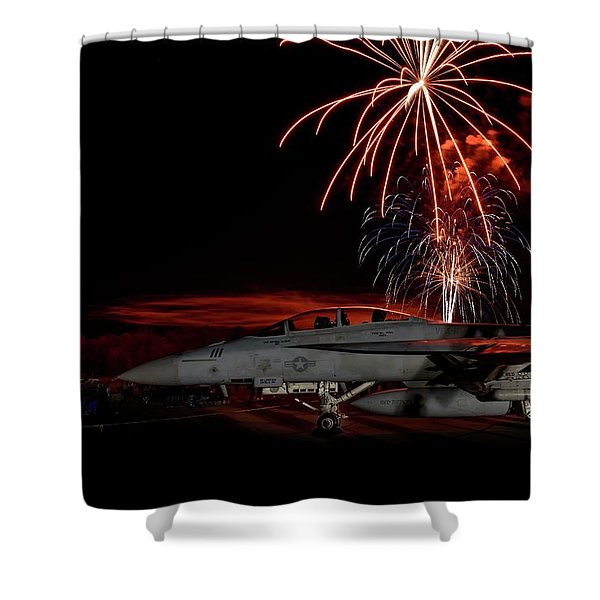 Rocket's Red Glare Shower Curtain
