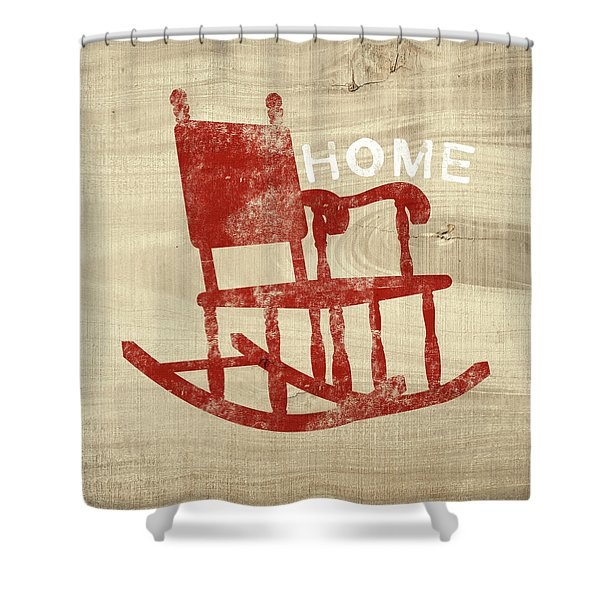 Rocking Chair Home- Art By Linda Woods Shower Curtain