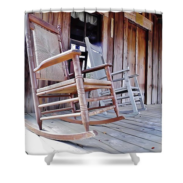 Rocking On The Front Porch Shower Curtain