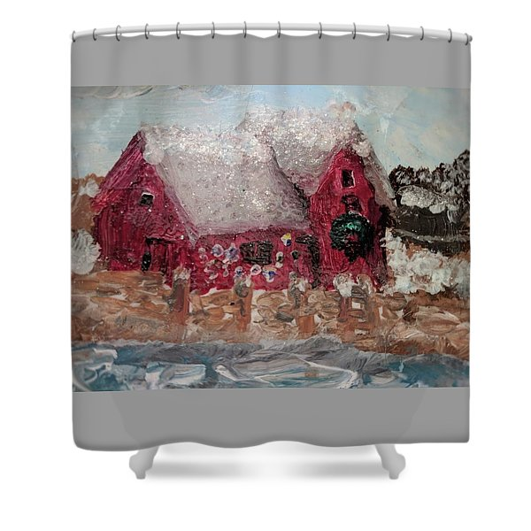 Rockport Christmas 1 Shower Curtain