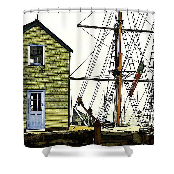 Rockport Harbor Shower Curtain