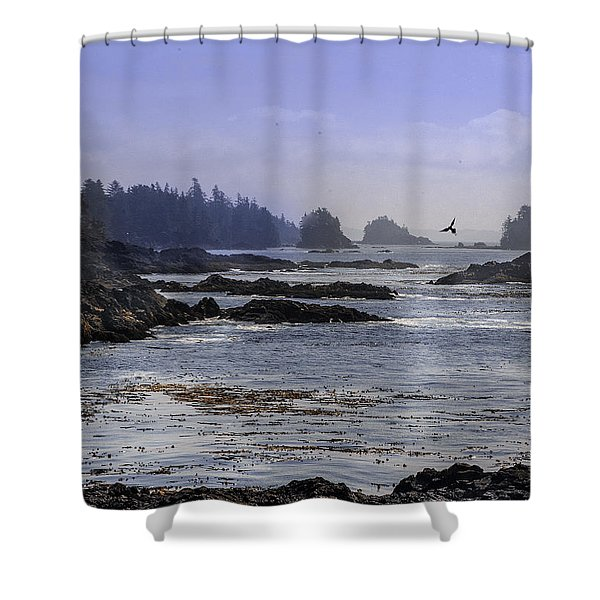Rocks And Moon And Water Shower Curtain