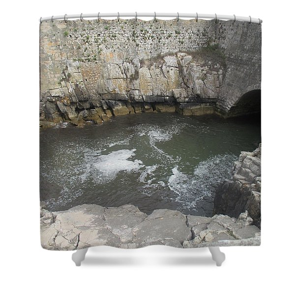 Rocks And Water Shower Curtain