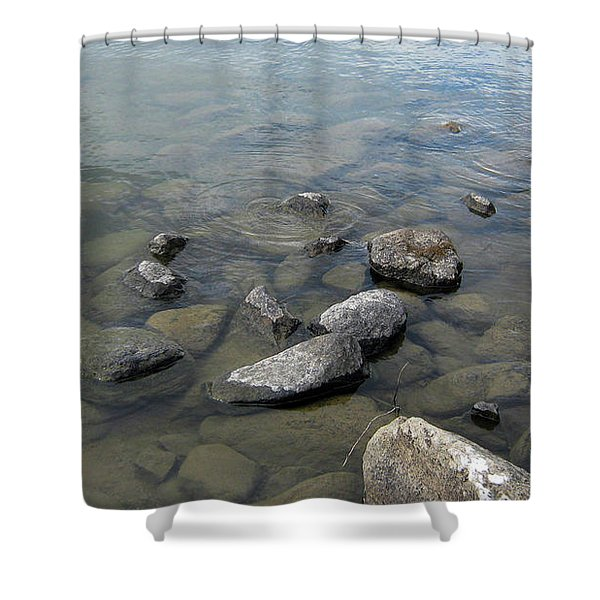 Rocks And Water Too Shower Curtain