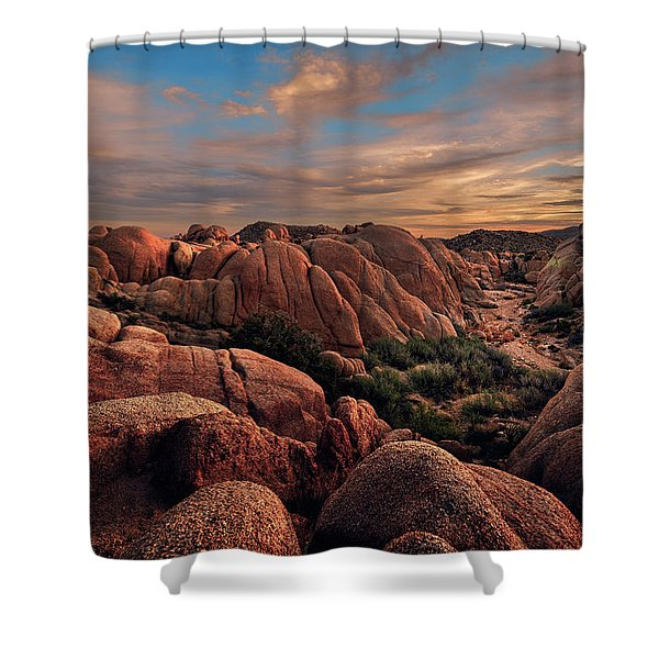 Rocks At Sunrise Shower Curtain