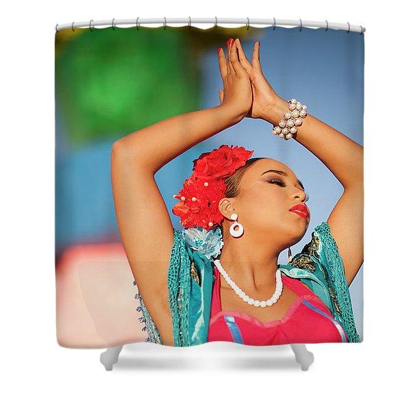 Cathy Rocks Shower Curtain