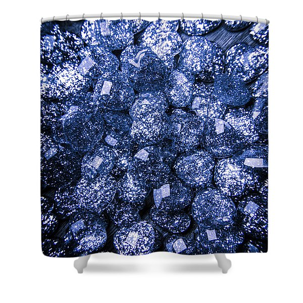 Rocks Of Blue Romance Shower Curtain