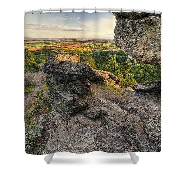 Rocks Of Sharon Overlook Shower Curtain