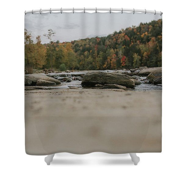 Rocks On Cumberland River Shower Curtain