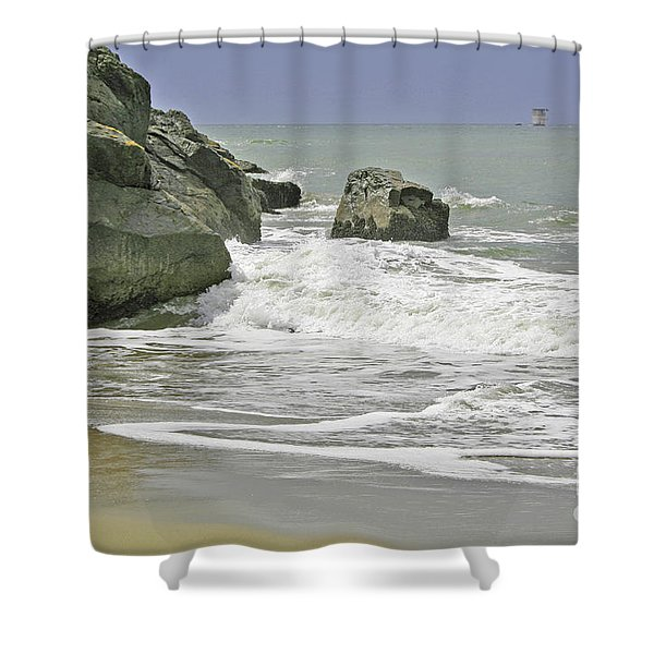 Rocks, Sand And Surf Shower Curtain