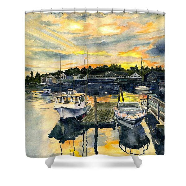 Rocktide Sunset Shower Curtain