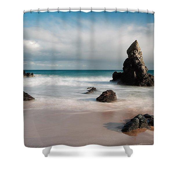 Rocky Beach On Sango Bay Shower Curtain