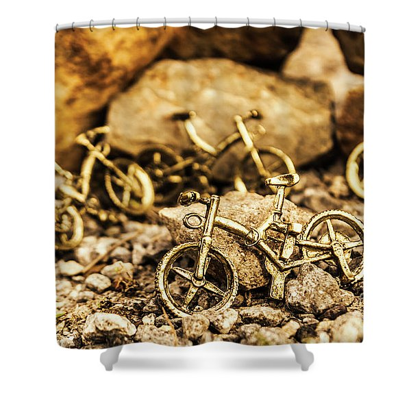 Rocky Cape Bicycles Shower Curtain