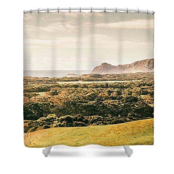 Rocky Capes And Rugged Coasts Shower Curtain